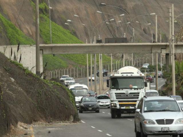 Costa Verde: desde el 16 de diciembre regirán multas a camiones y vehículos menores