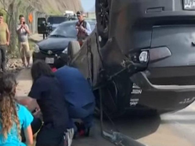 Costa Verde: vehículo sufre despiste y volcadura