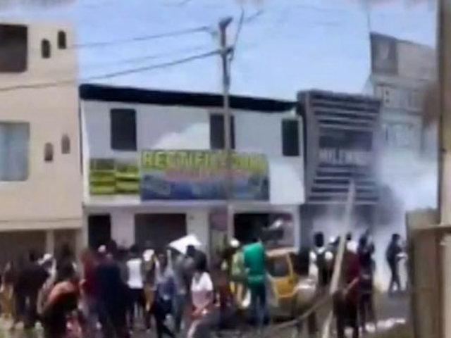 Protestan alumnos ingresantes de la Universidad San Luis Gonzaga de Ica