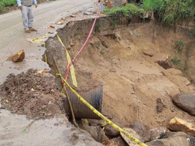 San Martín: congestión vehicular por hundimiento de carretera ejecutada por Odebrecht