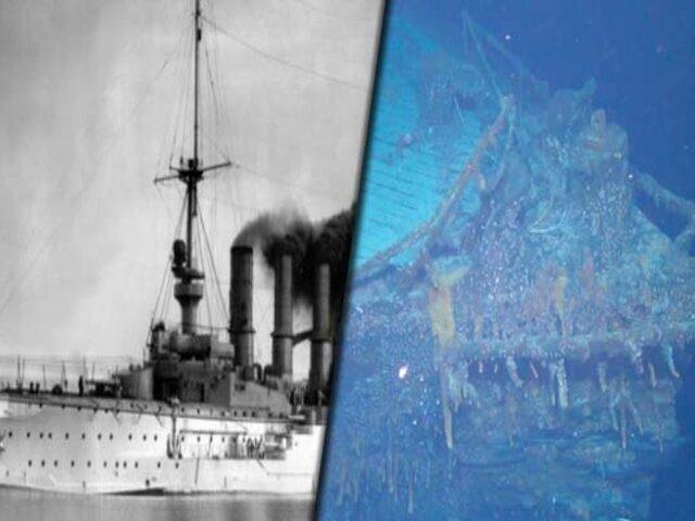 Hallaron buque de guerra alemán hundido frente a las islas Malvinas