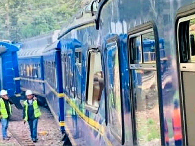 Cusco: tren turístico de Machu Picchu resultó afectado tras caída de rocas
