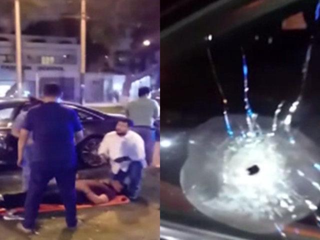 Esta noche | San Isidro: conductor fue baleado por asaltantes en la avenida Javier Prado
