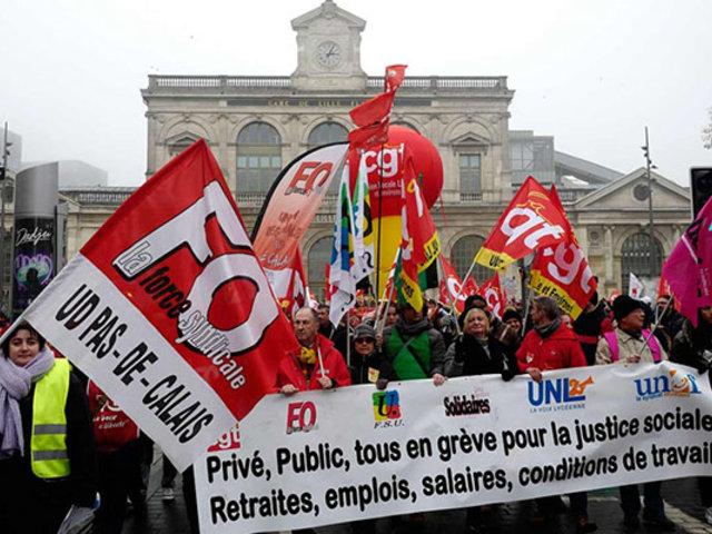 Francia: continúa huelga general contra reforma de pensiones
