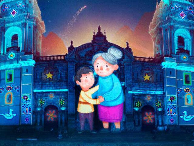 Centro de Lima: Proyectan cuento en fachada de la Catedral