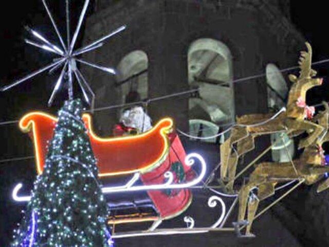 VIDEO: Papá Noel estrelló su trineo contra edificio en México