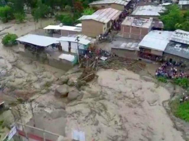 Piura: catorce viviendas dañadas tras desborde de quebrada en Huancabamba