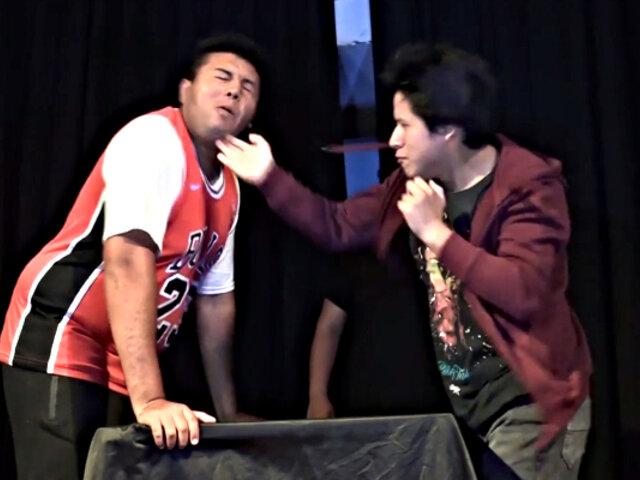 Realizan primer campeonato de cachetadas en Perú