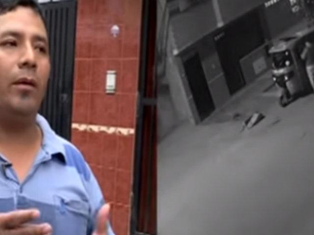 SJL: hombre rastrea a delincuente que le robó su mototaxi
