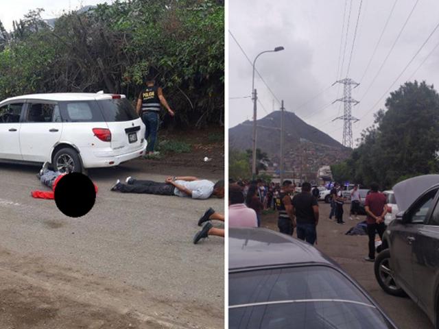 Persecución policial en El Agustino deja un muerto y siete detenidos