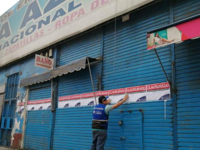 Centro de Lima: MML clausura galería Plaza Azul por falta de medidas de seguridad