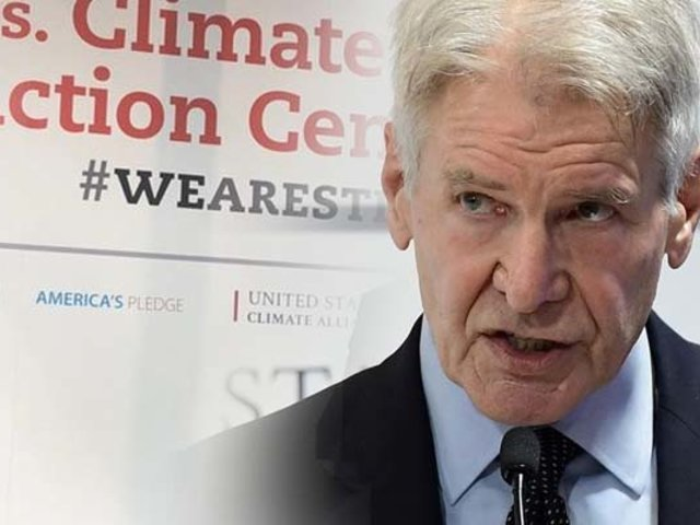 "Harrison Ford critica a Trump su ""falta de valentía"" climática"
