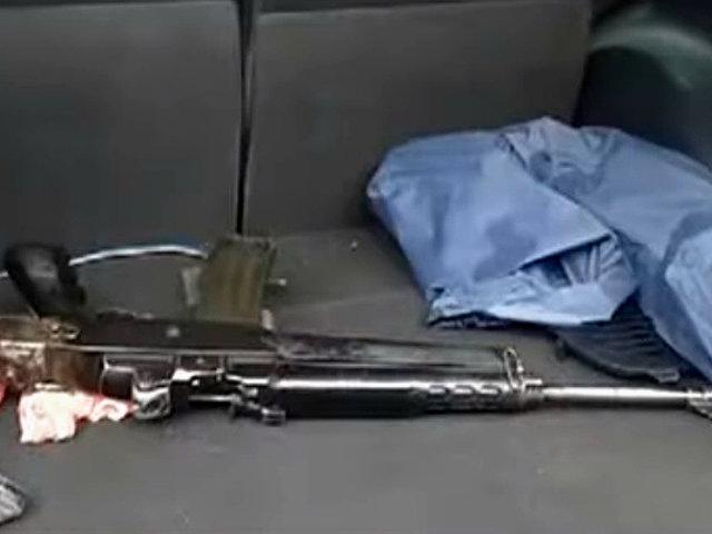 El Agustino: sujetos utilizaban arma de guerra para delinquir