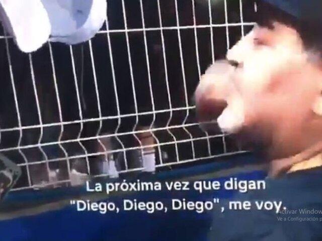 VIDEO: La pésima reacción de Maradona con niños que le pedían un autógrafo