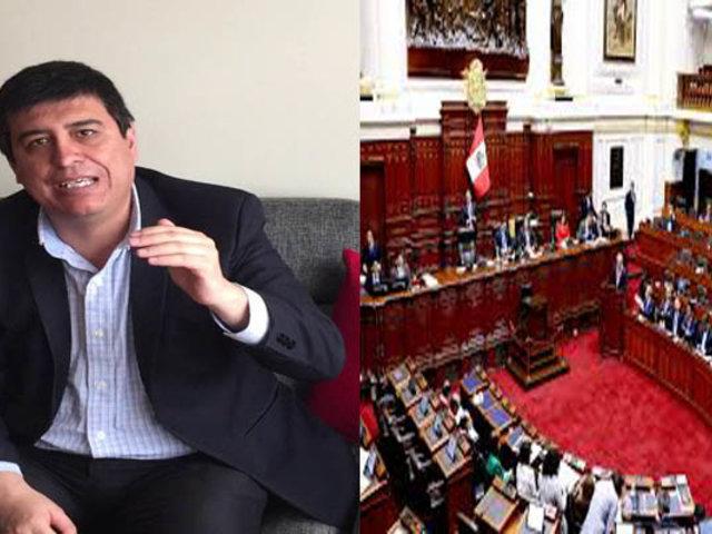 Ibo Urbiola: No puede haber democracia si no hay Congreso de la República