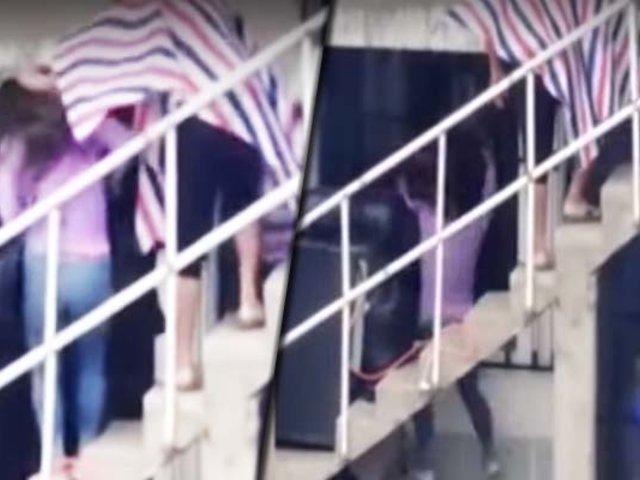 Trujillo: mujer es golpeada salvajemente por su expareja y la arroja por las escaleras