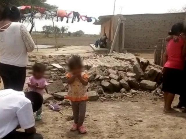 Chiclayo: niña de 4 años muere aplastada por pared de adobe