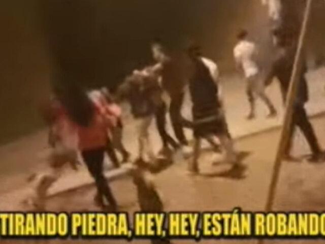 Vecinos y serenos de SMP se enfrentan a barristas que defendieron a raquetero