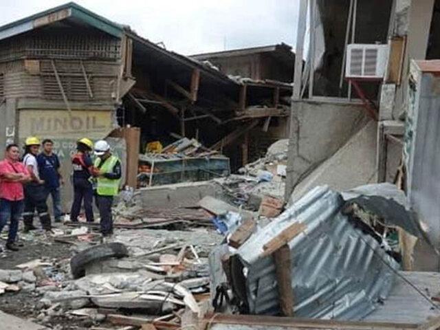 Terremoto de 6,8 grados remeció la isla filipina de Mindanao