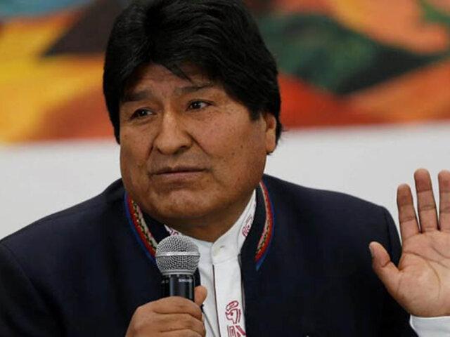 Argentina permitirá a expresidente Evo Morales hacer declaraciones políticas