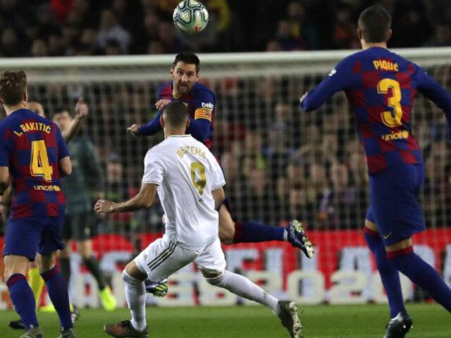 FC Barcelona y Real Madrid empataron en el Camp Nou