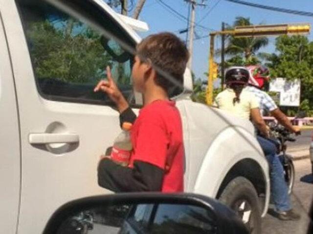 Padres obligaban a su hijo a pedir limosna para comprar droga