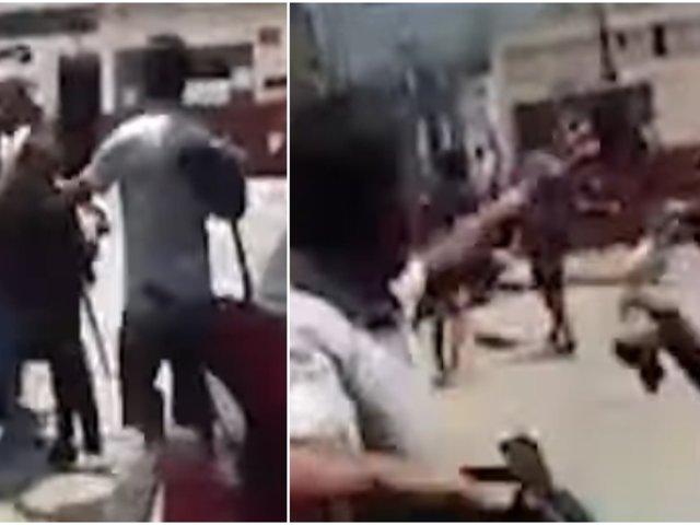 Ica: comerciantes peruanos y extranjeros protagonizan brutal pelea en plena vía pública