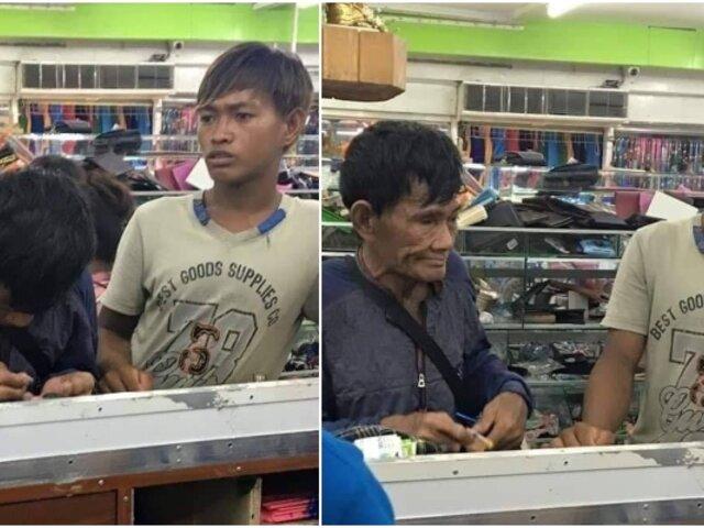 Ahorró monedas por varios años para comprarle un par de zapatos a su hijo