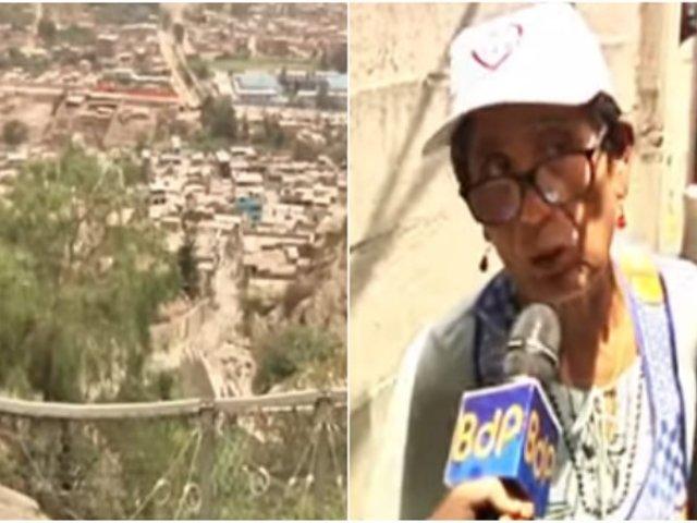 Chosica: vecinos se niegan a abandonar sus casas pese a peligro de derrumbes