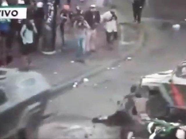 VIDEO: impactante atropello a manifestante agrava protestas en Chile