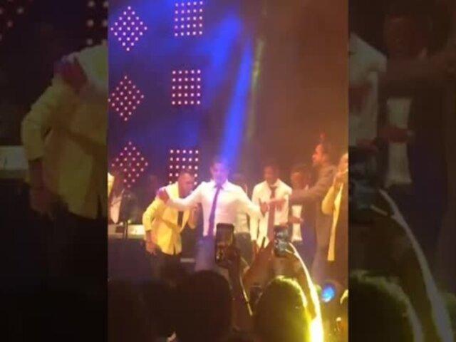 Aldo Corzo deslumbró con sus pasos de baile en boda de Edison Flores y Ana Siucho