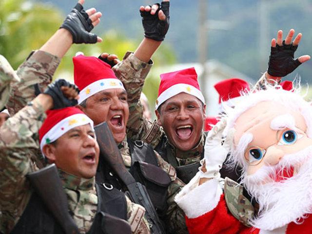 VIDEO: FFAA saludan por Navidad desde distintas ciudades del Perú