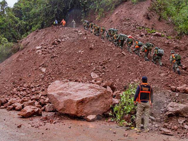 COEN advierte que 617 distritos de la sierra podrían sufrir derrumbes por lluvias