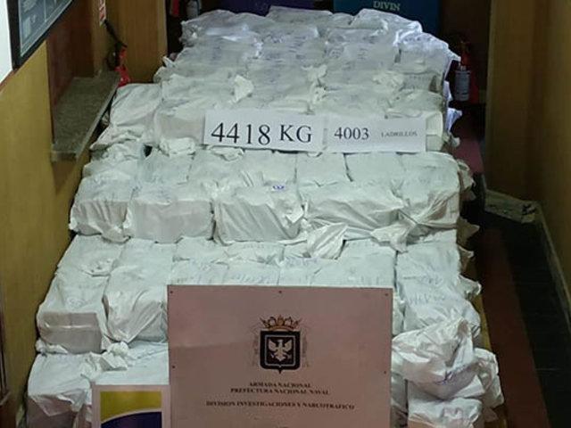 Policía uruguaya decomisa más de cuatro toneladas de cocaína