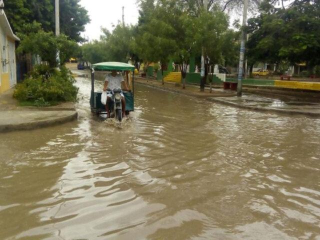 Piura: fuertes lluvias provocan inundaciones en obras de reconstrucción