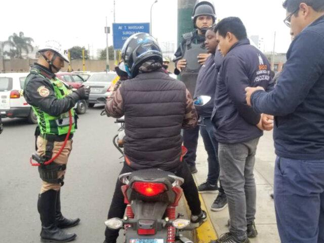 Taxi en moto en Surco: internarán en depósito vehículos de conductores infractores