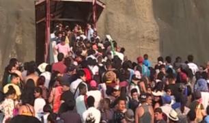 Costa Verde: miles hicieron colapsar puentes este 1 de enero