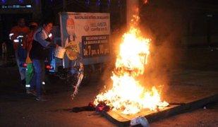Bellavista: trabajadores municipales apagaron muñecos durante celebraciones de Año Nuevo