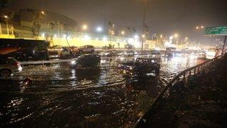 VES: Aniego provocó gran caos vehicular en la Panamericana Sur