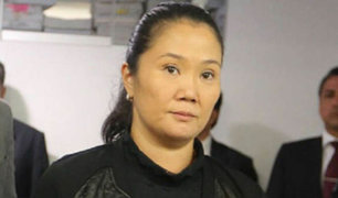 Audiencia de Keiko Fujimori quedó suspendida