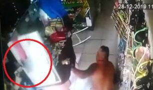 Iquitos: avezado delincuente robó 1500 soles de negocio