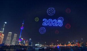 Shanghái recibió al 2020 con dos mil drones que reemplazaron a los fuegos artificiales