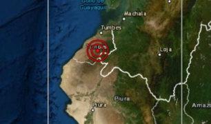 Sismo de magnitud 5.0 remeció Tumbes esta mañana