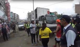 Ate: ambulantes desalojados intentaron tomar nuevamente las calles