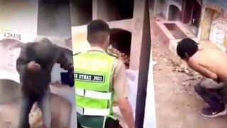 Disponen detención de policías que agredieron a indigente en un cementerio