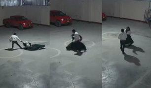 Huancayo: sujeto golpea violentamente a mujer en hostal