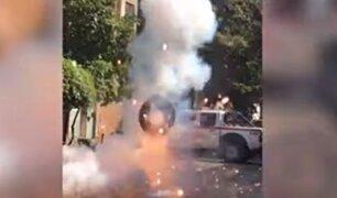 Trujillo: policía detona granada de guerra dejada en casa de empresario