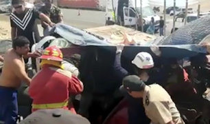 Huarmey: tres muertos deja triple choque en la Panamericana Norte