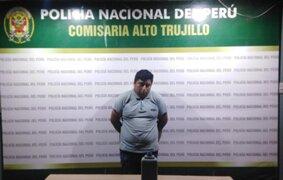 Capturan a sujeto que intentó quemar viva a su pareja en Alto Trujillo