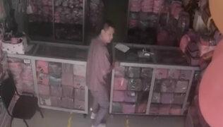 Cercado de Lima: delincuentes robaron ganancias del día de tienda de mochilas